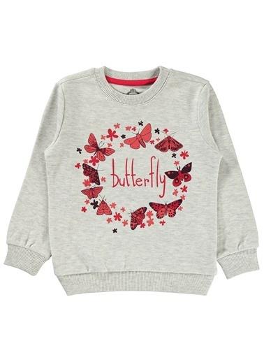 Cvl Kız Çocuk Sweatshirt Gri